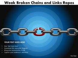 weak broken chains and links ropes 22