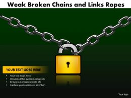 weak broken chains and links ropes 23