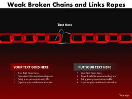 weak broken chains and links ropes 25