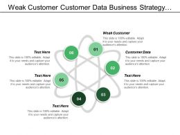 Weak Customer Customer Data Business Strategy Technical Architecture