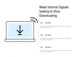 Weak Internet Signals Leading To Slow Downloading