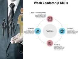 Weak Leadership Skills Ppt Powerpoint Presentation Inspiration Slide Download Cpb