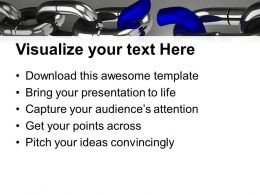 Weak Link About To Break Business Powerpoint Templates Ppt Themes And Graphics 0313
