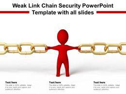 Weak Link Chain Security Powerpoint Template With All Slides