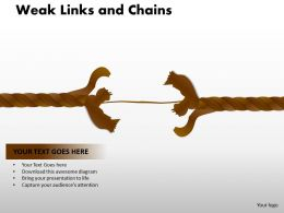 Weak Links and Chains 27