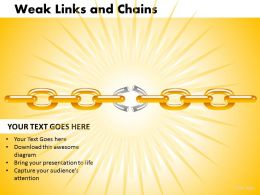 Weak Links and Chains 9