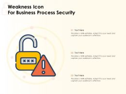 Weakness Icon For Business Process Security