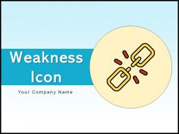 Weakness Icon Telecommunication Individual Representing Business Process