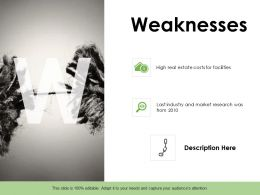 Weaknesses Pillars Ppt Powerpoint Presentation Portfolio Designs Download