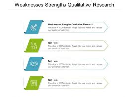 Weaknesses Strengths Qualitative Research Ppt Powerpoint Presentation Model Background Cpb