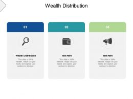 Wealth Distribution Ppt Powerpoint Presentation Slide Cpb
