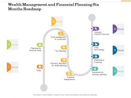 Wealth Management And Financial Planning Six Months Roadmap