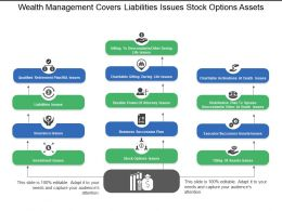 Wealth Management Covers Liabilities Issues Stock Options Assets