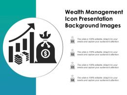 Wealth Management Icon Presentation Background Images