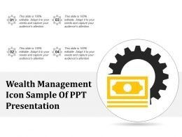 Wealth Management Icon Sample Of Ppt Presentation