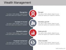Wealth Management Ppt Slide