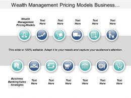 Wealth Management Pricing Models Business Banking Sales Strategies Strategic Segmentation Cpb