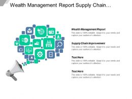 Wealth Management Report Supply Chain Improvement Testing Strategy Cpb