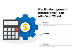 Wealth Management Transparency Icon With Gear Wheel