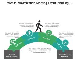 Wealth Maximization Meeting Event Planning Change Management Analysis Cpb