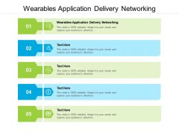 Wearables Application Delivery Networking Ppt Powerpoint Presentation Outline Styles Cpb