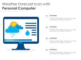 Weather Forecast Icon With Personal Computer