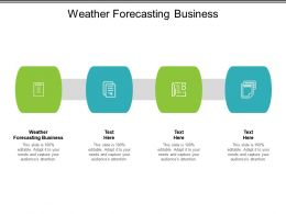 Weather Forecasting Business Ppt Powerpoint Inspiration Example Topics Cpb
