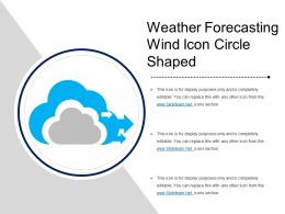 Weather Forecasting Wind Icon Circle Shaped
