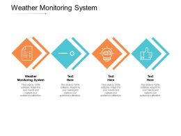 Weather Monitoring System Ppt Powerpoint Presentation Show Slides Cpb