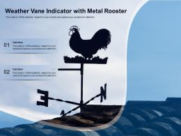 Weather Vane Indicator With Metal Rooster