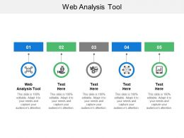 Web Analysis Tool Ppt Powerpoint Presentation Gallery Background Cpb