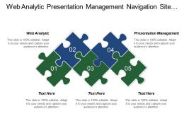 Web Analytic Presentation Management Navigation Site Search Leading Page