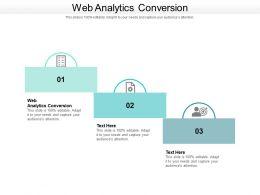 Web Analytics Conversion Ppt Powerpoint Presentation Visual Aids Files Cpb
