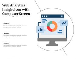 Web Analytics Insight Icon With Computer Screen