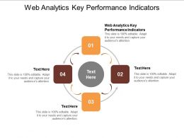 Web Analytics Key Performance Indicators Ppt Powerpoint Presentation Layouts Aids Cpb