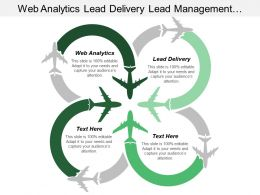 Web Analytics Lead Delivery Lead Management Institutionalized Action