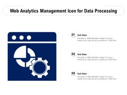 Web Analytics Management Icon For Data Processing