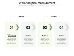 Web Analytics Measurement Ppt Powerpoint Presentation Template Cpb