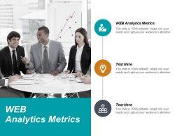 Web Analytics Metrics Ppt Powerpoint Presentation Show Ideas Cpb