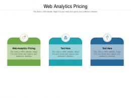 Web Analytics Pricing Ppt Powerpoint Presentation Infographic Template Graphic Images Cpb
