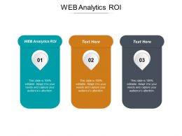 Web Analytics ROI Ppt Powerpoint Presentation Show Visual Aids Cpb