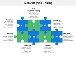 Web Analytics Testing Ppt Powerpoint Presentation Gallery Background Image Cpb