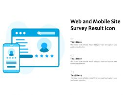 Web And Mobile Site Survey Result Icon