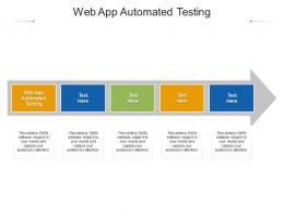 Web App Automated Testing Ppt Powerpoint Presentation Outline Show Cpb