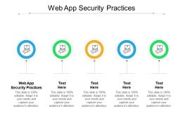 Web App Security Practices Ppt Powerpoint Presentation Pictures Professional Cpb