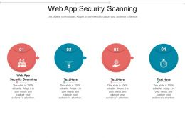 Web App Security Scanning Ppt Powerpoint Presentation Icon Design Inspiration Cpb