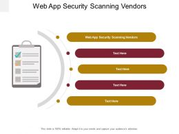 Web App Security Scanning Vendors Ppt Powerpoint Presentation Ideas Shapes Cpb