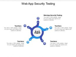 Web App Security Testing Ppt Powerpoint Presentation Designs Cpb