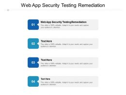 Web App Security Testing Remediation Ppt Powerpoint Presentation Slides Gallery Cpb