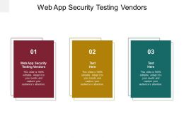Web App Security Testing Vendors Ppt Powerpoint Presentation Outline Maker Cpb